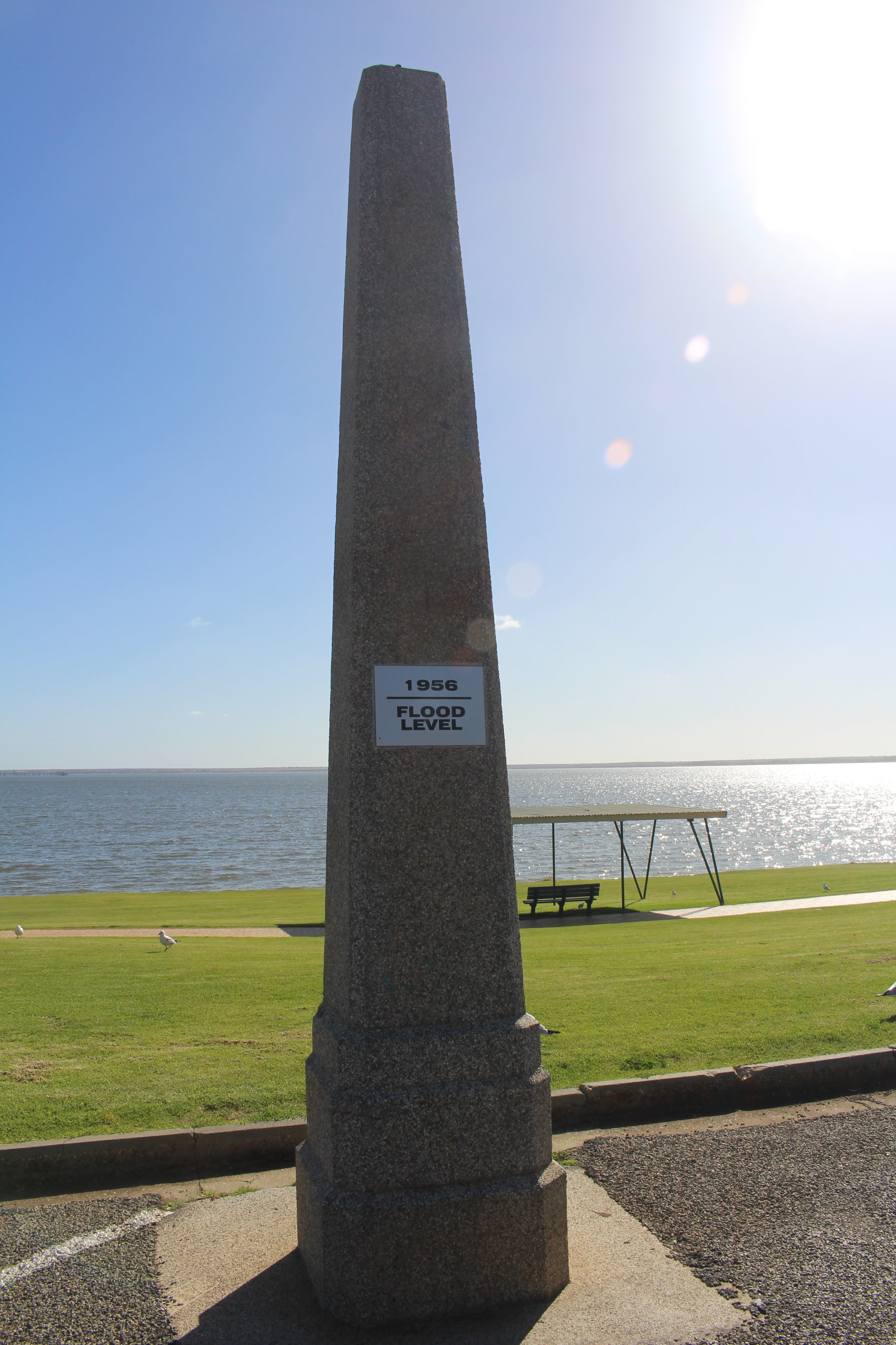 1956 Flood Marker - Accommodation Broome