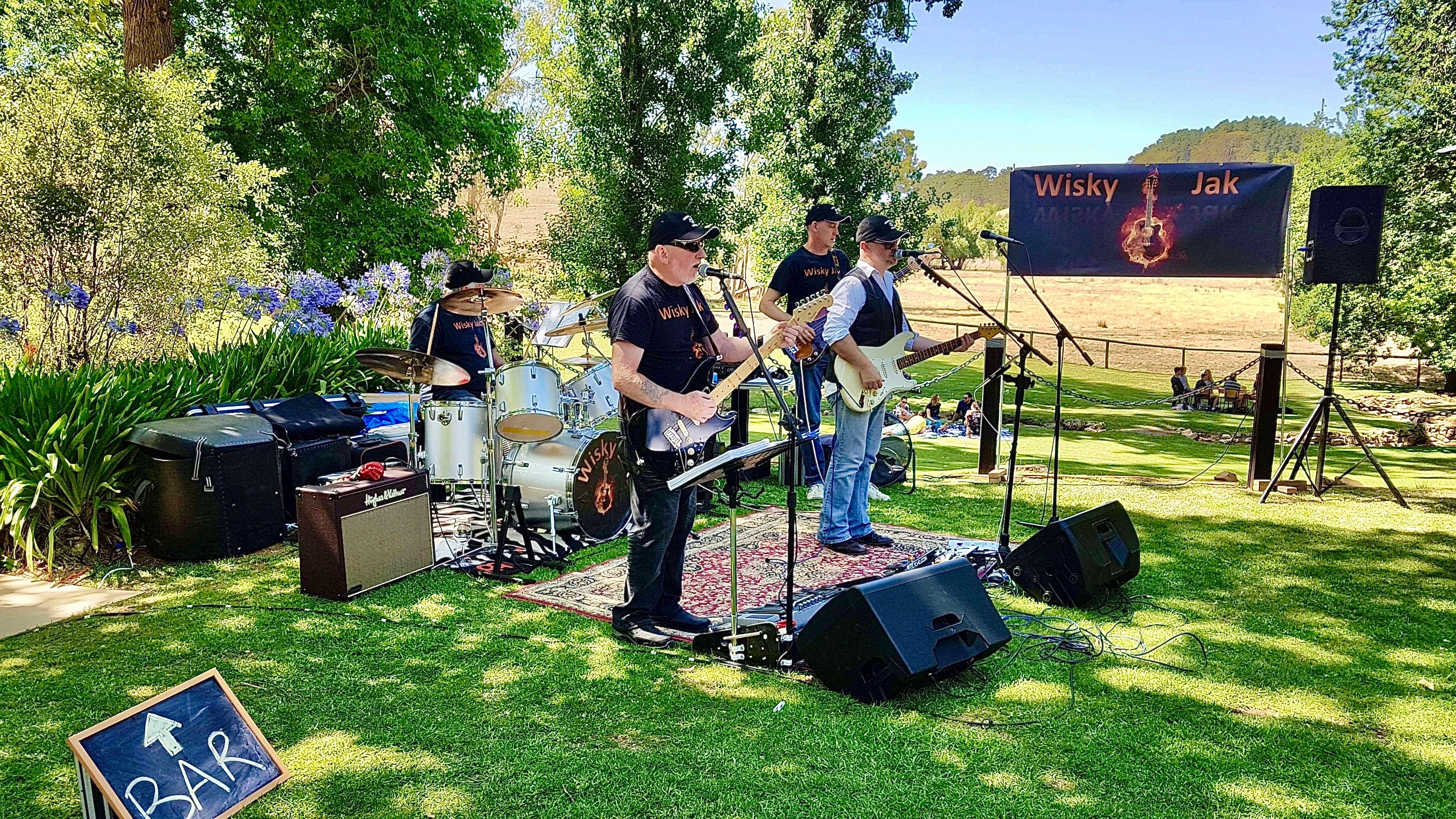 Angas Plains Wines Live in the Vines with the band -Wisky Jak - Accommodation Broome