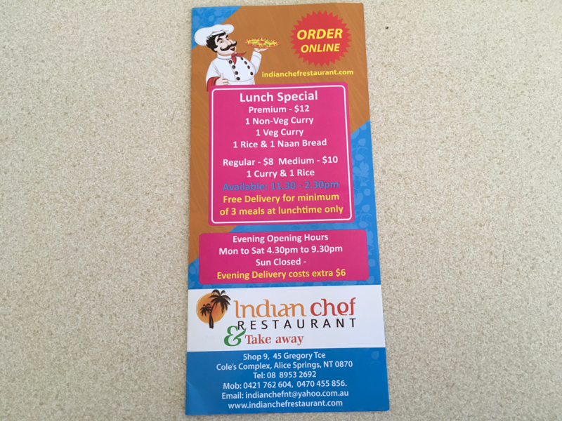 Indian chef restaurant  Take away - Accommodation Broome